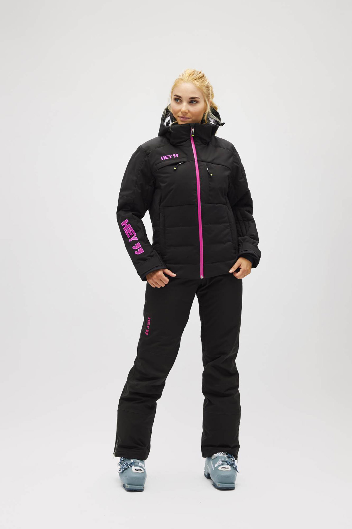 nero, donna, Giacca BIG BEAR, Giacca da sci Hey Sport, Abbigliamento impermeabile per la neve, abbigliamento invernale, abbigliamento per la neve