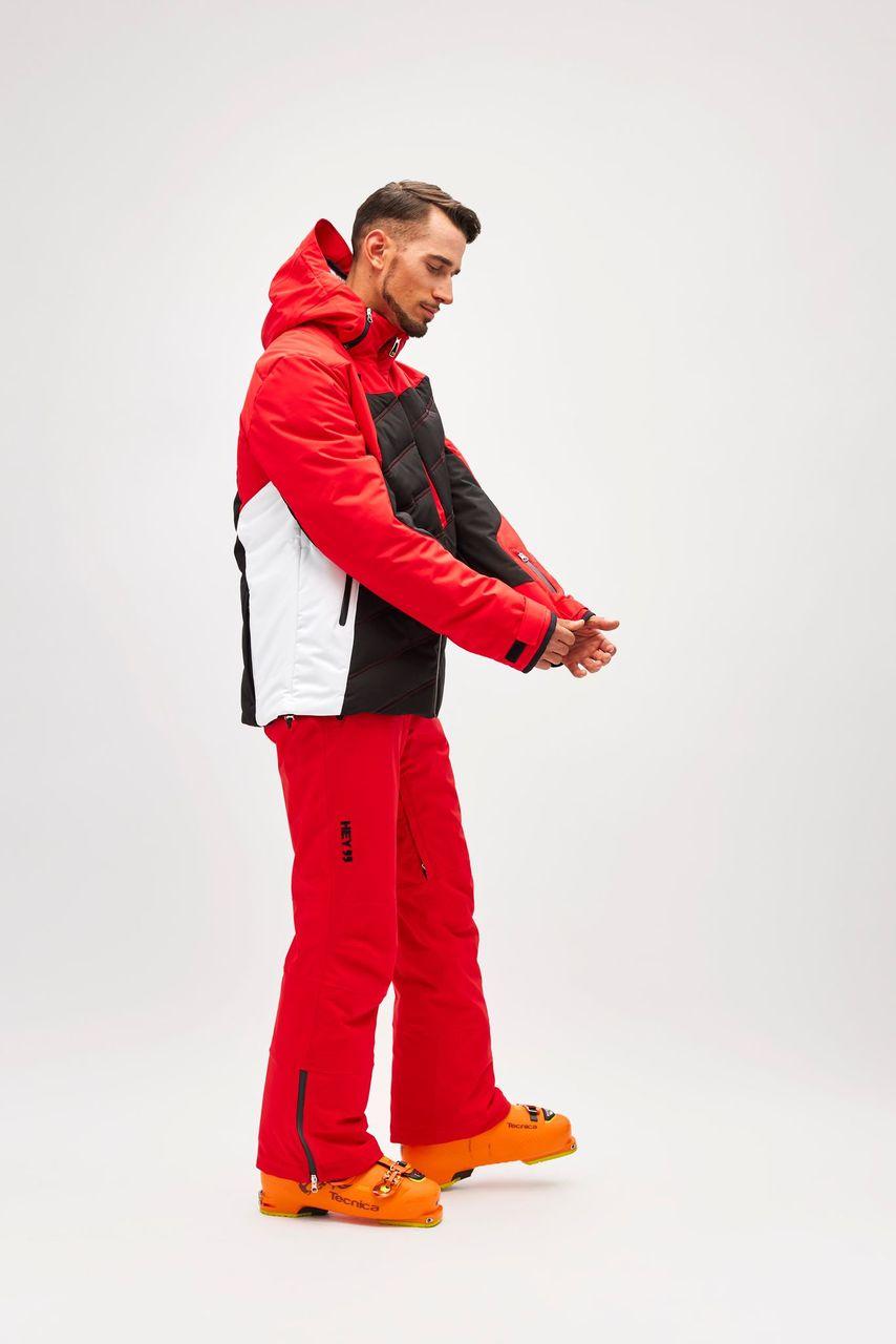 rosso, capo uomo, GIACCA HT16, Giacca da sci Hey Sport, Abbigliamento impermeabili per la neve, abbigliamento invernale, abbigliamento per la neve